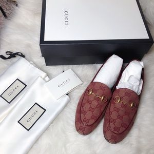 NIB Gucci Jordaan GG Canvas loafer red 36.5
